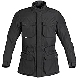 Newfacelook Protectora de los hombres Armadura Moto Impermeable Textil Chaqueta