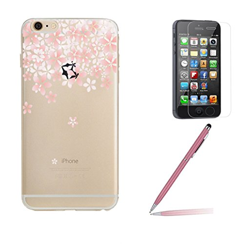 iphone-se-case-iphone-5-5s-silicone-case-yoowei-crystal-clear-cherry-blossom-ultra-thin-soft-gel-tpu