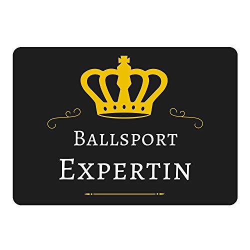 Mousepad Ballsport Expertin schwarz