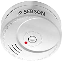 SEBSON 10 Jahres Rauchwarnmelder, DIN EN 14604 zertifiziert, Q-zertifiziert, fotoelektrischer Rauchmelder, Lithium Langzeit-Batterie