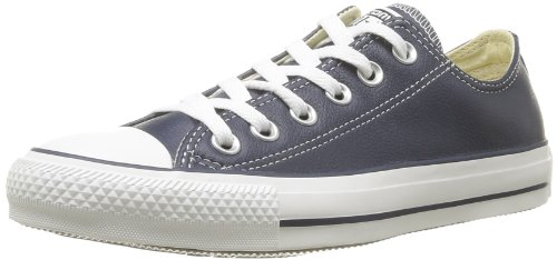 Converse Chuck Taylor Core Lea Ox, Unisex - Erwachsene Sneaker Blau (Marine)