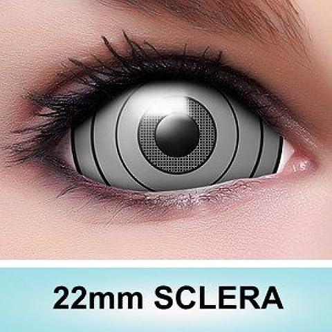 Lente Finder rinnegan esclerótica Contacto lente con Gratis lente Depósito y Combi Solución, 2unidades/BC 9.0mm, diámetro