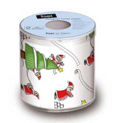 Weihnachten Design Toilettenpapier Santas SO Busy