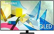 """Samsung TV QE65Q80TATXZT Serie Q80T QLED Smart TV 65"""", con Alexa integrata, Ultra HD 4K, Wi-Fi, Silver,"""