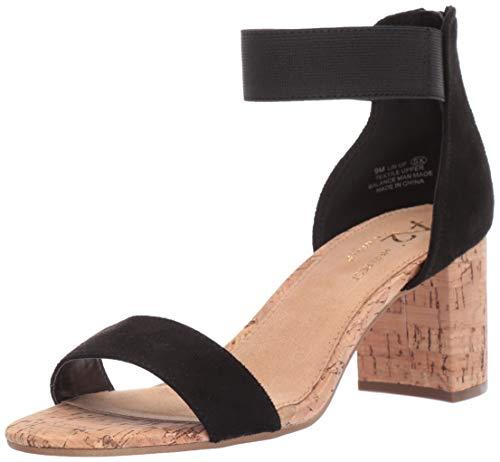 Aerosoles Sandalen Schwarz (Aerosoles Damen Sandale mit Schnürsenkel, Schwarz (Black Fabric), 40 EU)