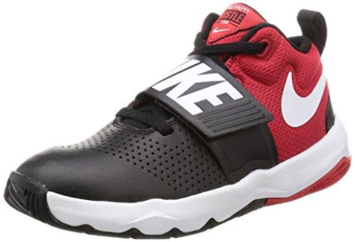 Nike Boy's Team Hustle D 8 (GS) Basketball Shoe Black/White/University Red Size 3.5 M US (Boys Schuhe Nike Basketball)