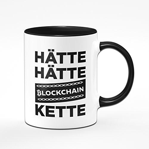 Tasse HÄTTE HÄTTE BLOCKCHAINKETTE Kaffetasse Bitcoin, Etherum, Litecoin - Blockchain - Kryptowährung - 2