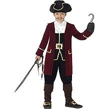 Disfraz de pirata Piratas del Capitán garfio elegante disfraz de pirata Los niños compuesta con diseño de traje del Carnaval Disfraz de disfraces disfraz infantil con diseño de