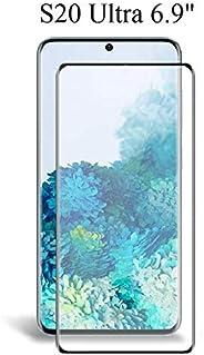 Samsung Galaxy S20 Ultra full cover Glass Screen protector - Zwart