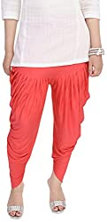 Soundarya Womens Cotton Lycra Harem Pants (Orange)