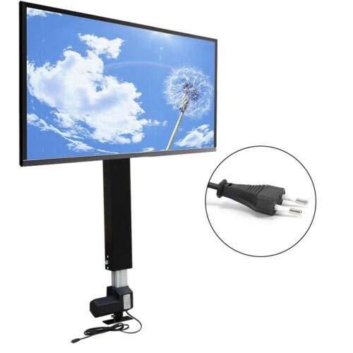 BTdahong Elektrisch TV Standfuß 26-57 Zoll Fernseher Ständer Schwenkbar LCD LED TV Halter Höhenverstellbarer TV Motorisiert Hebesystem TV Lift Flachbildschirme 70 cm Hublänge + Fernbedienung