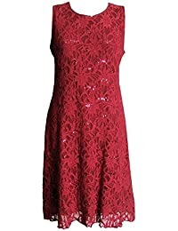 Sparkly Flare Sequin Lace Evening Cocktail Dress in Sizes 16-22