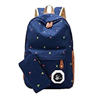 Ruikey School Backpack Large Capacity Small Flowers Pattern Rucksack School Bag Bookbag Travel Bagpack Casual Daypacks