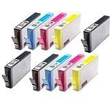 Printer Ink Cartridges Kompatible Druckerpatronen für HP CN684EE / CB323EE / CB324EE / CB325EE / Photosmart 7510, 7520, B8550, B8553, B8558, C5324, C5370, C5373, C5380, C5383, C5388, C5390, C5393, C6324, C6380, C6383, D5460, D5463, D5468 / Photosmart Premium C309a, C309n/g, C310a, C410b / Photosmart eStation C510a, Ersatz für 364XL, ergiebig, 10 Stück 2 x H-364 XL Schwarz, Cyan, Magenta, Gelb, gechipped, gebrauchsfertig, kein OEM-Artikel