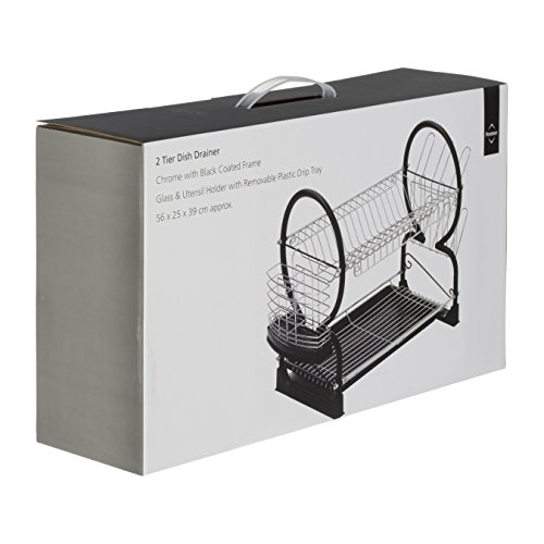 Premier Housewares 2-Tier Dish Drainer, 56 cm - Black Img 1 Zoom