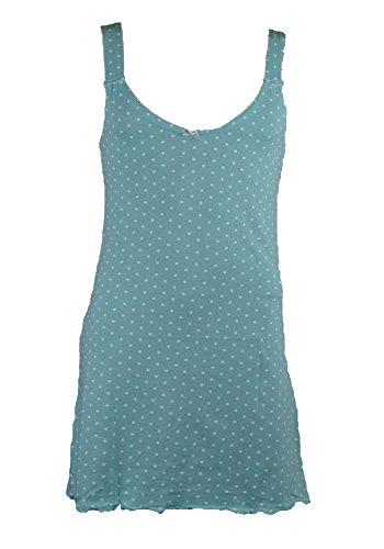 Damen Nachthemd,Kurzarm,100% BAUMWOLLE Grün