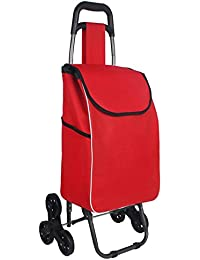 XIN Carrello per la spesa leggero Carrello pieghevole per bagagli pieghevole con ruote Shopper per Go Up e Down Scale 6 ruote, J