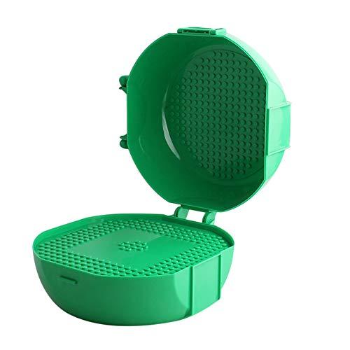 TianranRT Kreativ Koffer Backstein Box Speicher Backstein Schutz Box Für Gebäude (Grün)
