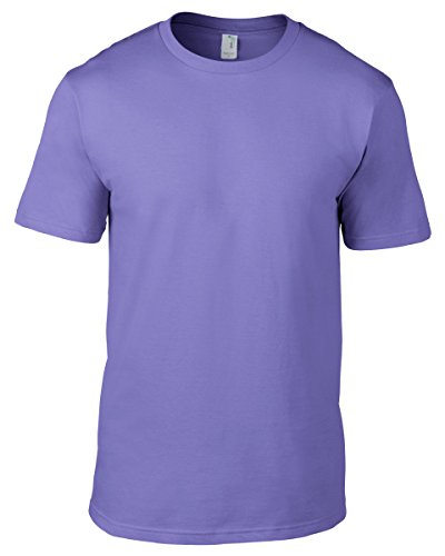 anvil Herren Organic Fashion Basic T-Shirt / 490 XL,Violett - Violett
