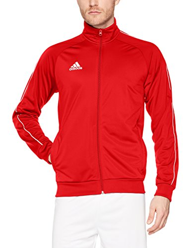 adidas Herren Core18 PES Jacke, Power Red/White, XXXL