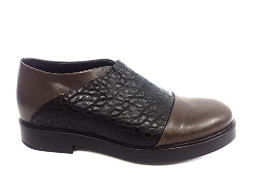6212 GREY Scarpa donna slip-on pelle Lilimill pelle tortora made in Italy