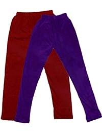 Indiweaves Kid's Super Soft Cotton Leggings Combo 2