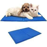 Mascota Perro Gato Alfombrilla de Cool de autorrefrigeración–Alfombrilla de gel alivio de calor colchón no tóxico