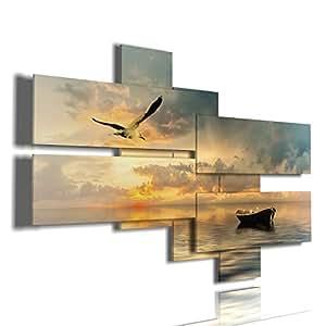 duudaart quadro moderno mare 03 multilivello 3d quadri moderni sole tramonto