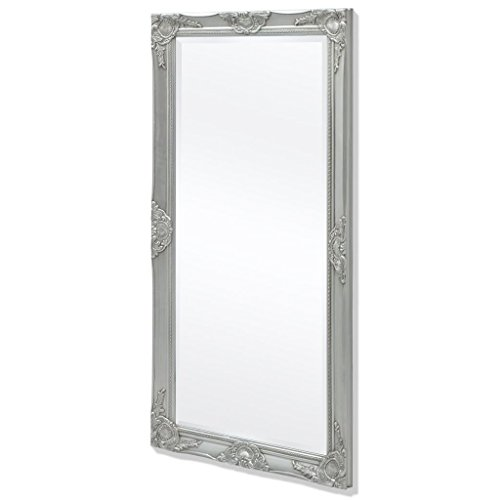 vidaXL Espejo de Pared Estilo Barroco 120x60 cm Plateado