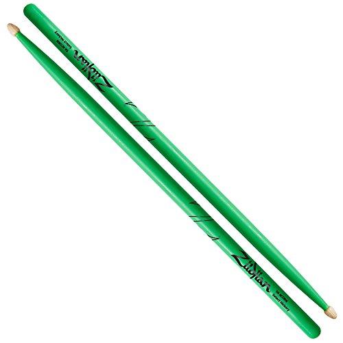 ZILDJIAN 5A Acorn Neon Grün Drumsticks