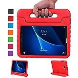 LEADSTAR Coque pour Samsung Galaxy Tab A 10.1 EVA Etui Poignée Stand Étui Enfants Housse Antichoc Protecteur Kids Coque Anti-Chocs pour Samsung Galaxy Tab A 10.1-pouces SM-T580 SM-T585 (Rouge)