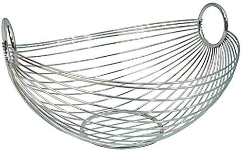 Zeller 24895 Obstkorb, oval 28 x 25.5 x 16 cm, Chrom