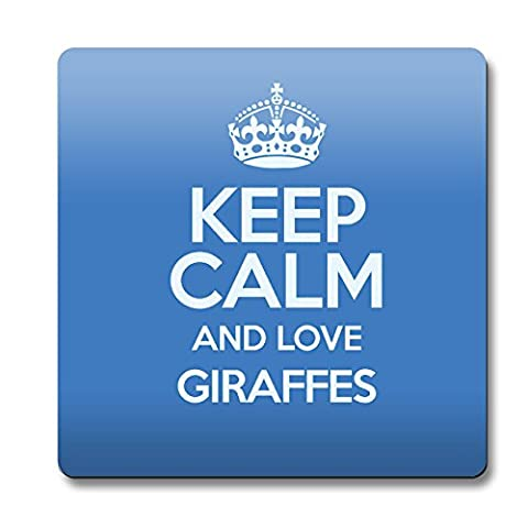 Bleu Couleur Motif Keep Calm And Love Giraffes