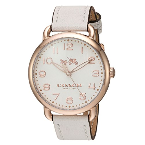 White Dial Women's Analog Casual Quartz Coach Watch Delancey 14502716