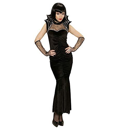 WIDMANN 06102 - Erwachsenenkostüm Spiderella, Kleid und Fingerlose Handschuhe, Größe M, ()