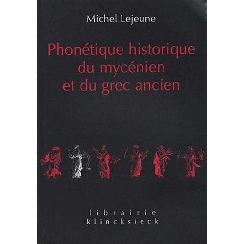 Phonétique historique du mycénien et du grec ancien