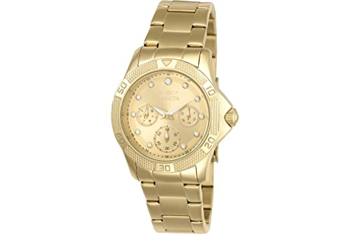 Invicta 21766 Ladies Angel Gold Plated Bracelet Watch
