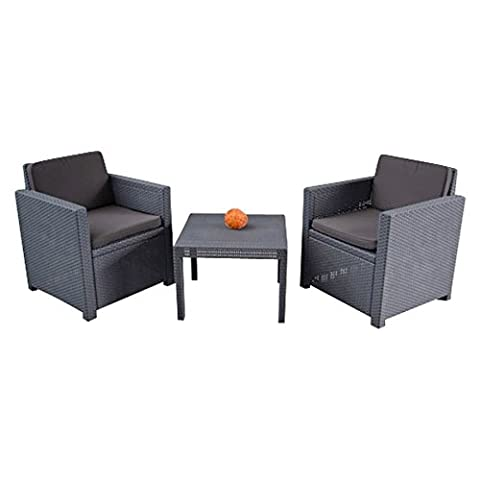 Auflagenset für Lounge Balkon Sitzgruppe Sitzauflagen Sitzkissen