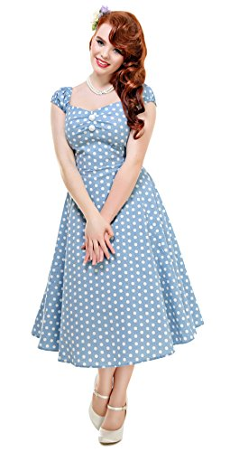 Collectif - Robe - Femme Small Dusky Blue