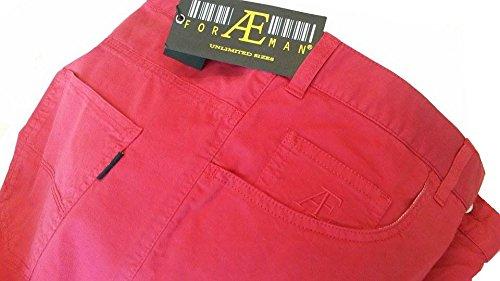 forAEman Taglie Forti Pantalone vita alta elasticizzato 5 tasche Taglie Grandi (180 Celeste, 64 drop 4)