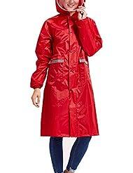 Babysbreath Impermeable Impermeable Mujeres Hombres Pareja Impermeable Trench Coat Rain Capa Rainwear Gear Rain Rain rojo L