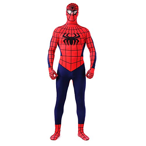 WEGCJU Klassische Spiderman Kostüm 2019 Halloween Kostüm Overall Party Leistung Kostüm Cosplay Korsett Halloween ()