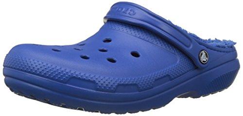 Crocs classic lined clog u, zoccoli unisex-adulto, blu blue jeans 4hk, 43/44 eu
