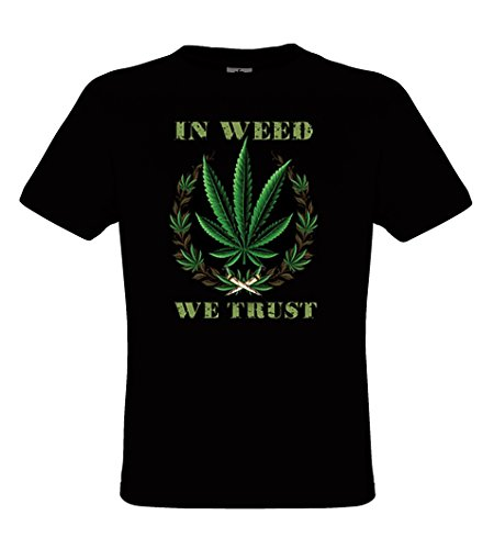 DarkArt-Designs Weed Trust - Kiffer T-Shirt fŸr Herren - Hanfmotiv Shirt Fun Lifestyle regular fit, Grš§e XL, schwarz