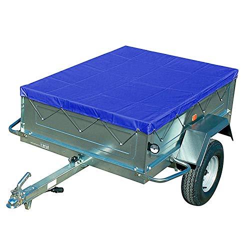 FIXKIT Anhängerplane Flachplane mit Gummigurt für PKW Anhänger 2090x1340x50mm (Blau)