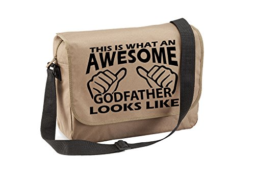 Fantastico Padrino-unisex Scherzi Divertenti Detti Novità Quadra Eco-option Messenger Bag-beige