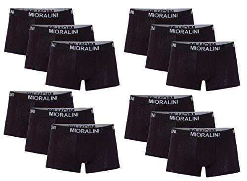12 Herren Elastan -Baumwoll Boxershort, Modell: 12 STK Set 02SW, Größe: L-6 -