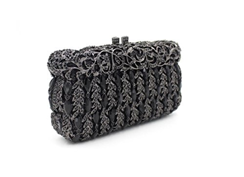 Damen Abend packt Diamant Strass Diamanten Diamanten Diamanten Diamanten Brautjungfer Handtaschen Bankett-Packs Black