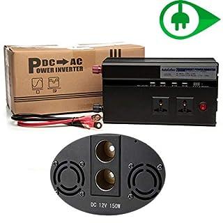 2000 W KFZ-Wechselrichter mit USB-Anschlüssen, Ladegerät, digitales Display für Handys, Laptops, Geräte zum Aufladen für Camping, Angeln, Familien, Outdoor-Aktivitäten