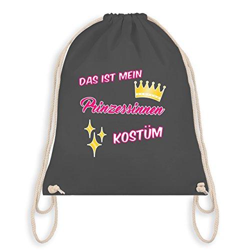 Anlässe Kind - Das ist mein Prinzessinnen Kostüm - Unisize - Dunkelgrau - WM110 - Angesagter Turnbeutel / Gym Bag
